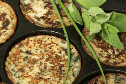 Gluten-free nettle pancakes