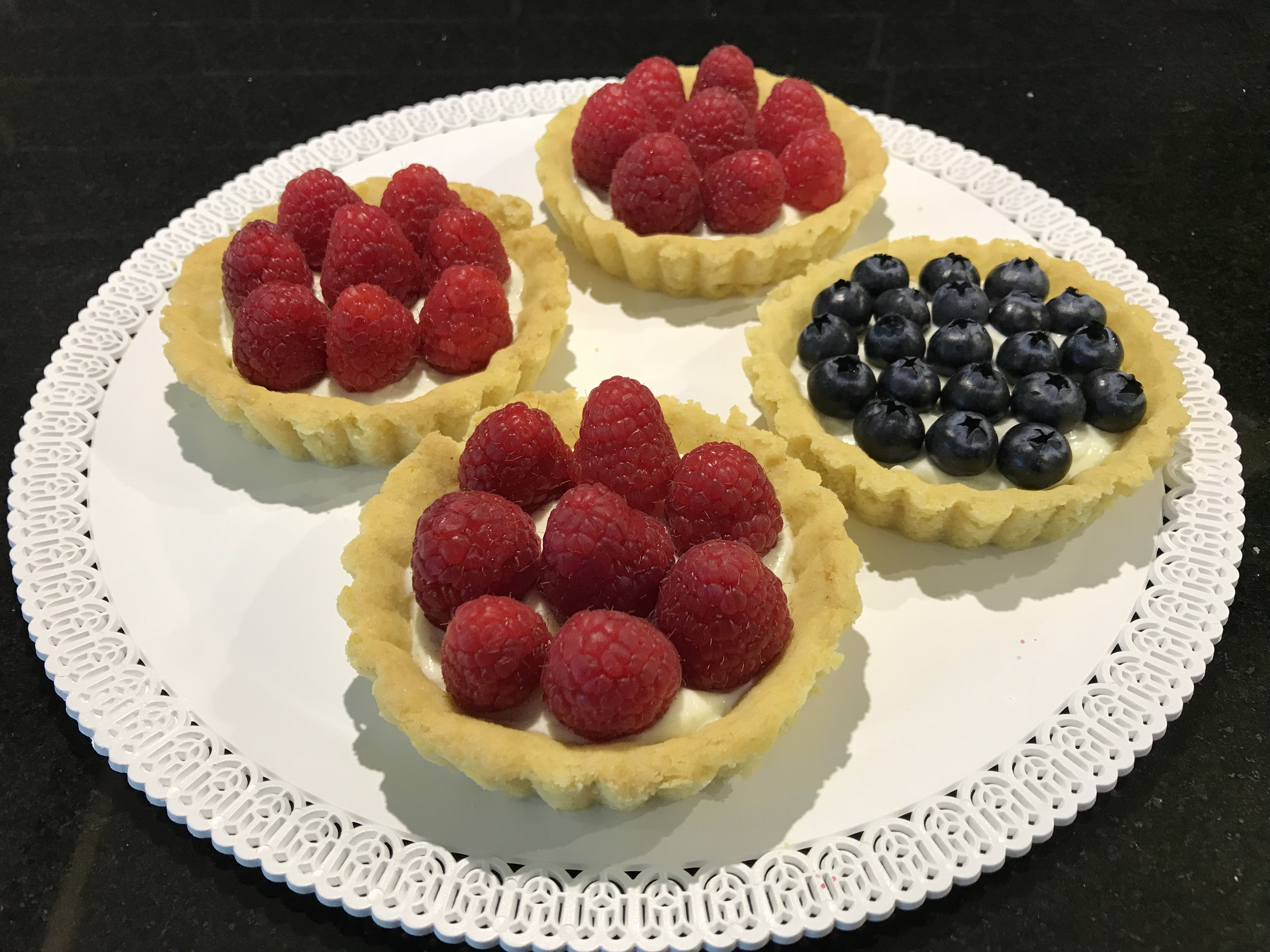 Gluten-free berry tartlets