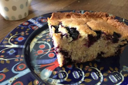Easy gluten-free blueberry cake