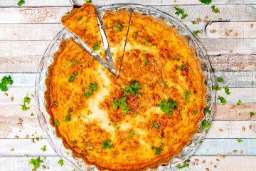 Gluten-free ham and cheese quiche