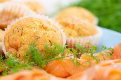 Gluten-free salmon muffins