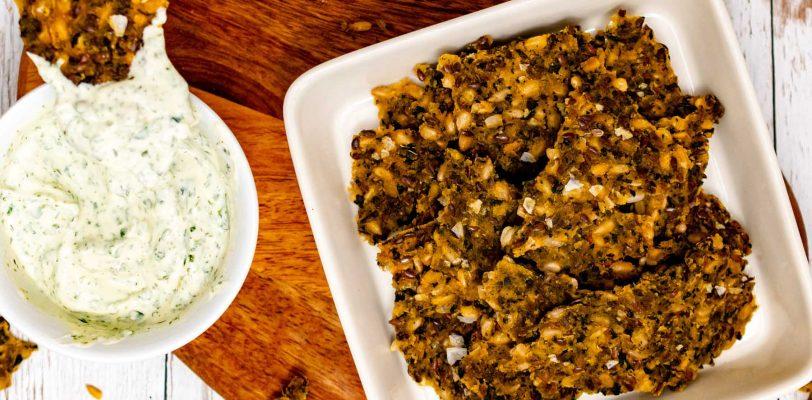 Gluten-free nettle & seeds crispbread