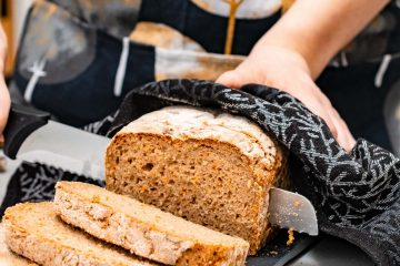 Gluten-free carrot & sunflower seeds loaf bread