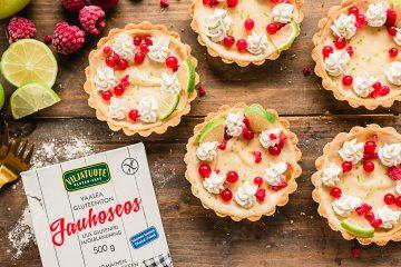 Gluten-free cheesecake tart with white chocolate cream
