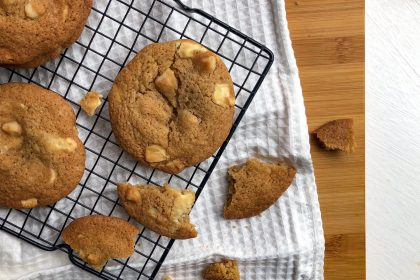 Gluten-free white chip macadamia cookies