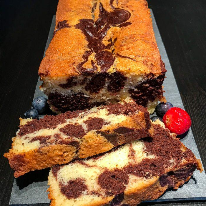 Gluten-free chocolate marble cake
