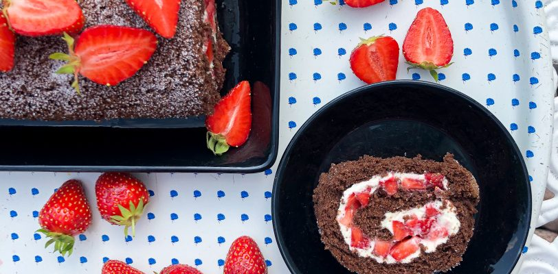 Gluten-free chocolate swiss roll