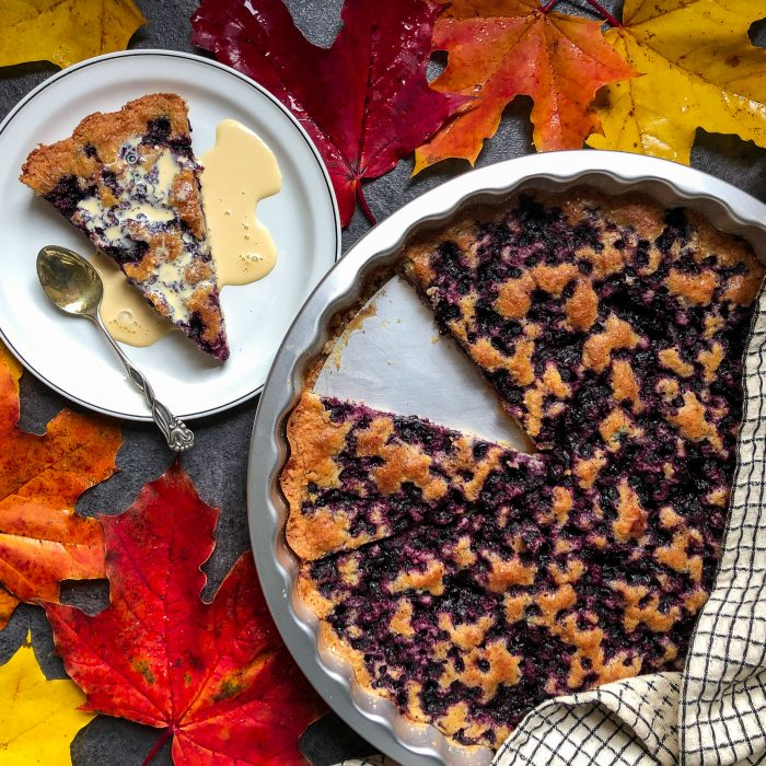 Gluten-free easy blueberry pie
