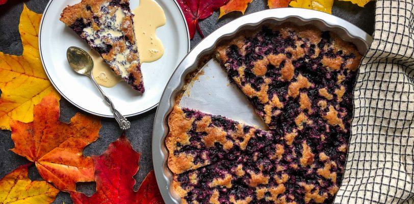 Gluten-free easy blueberry pie