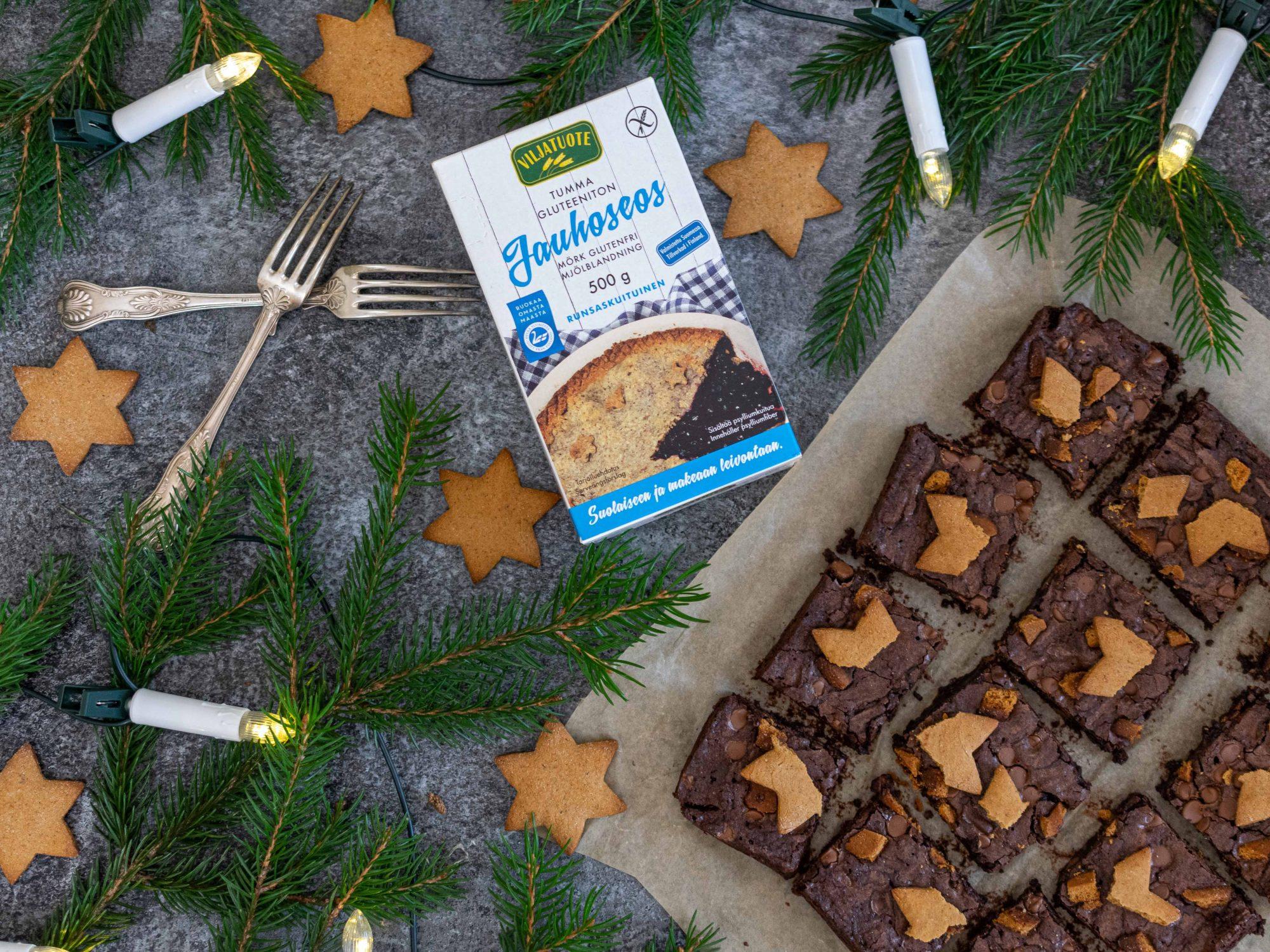 Gluten-free gingerbread brownies