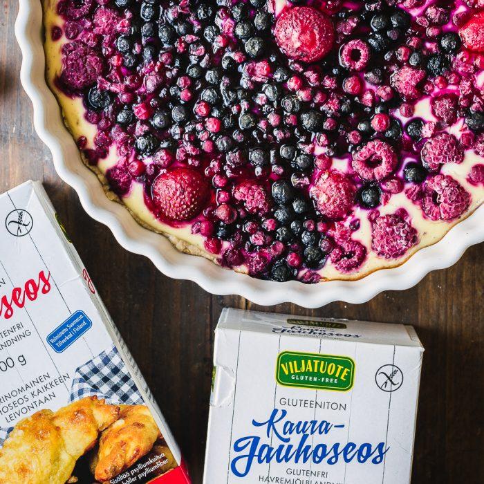 Gluten-free vegan berry tart