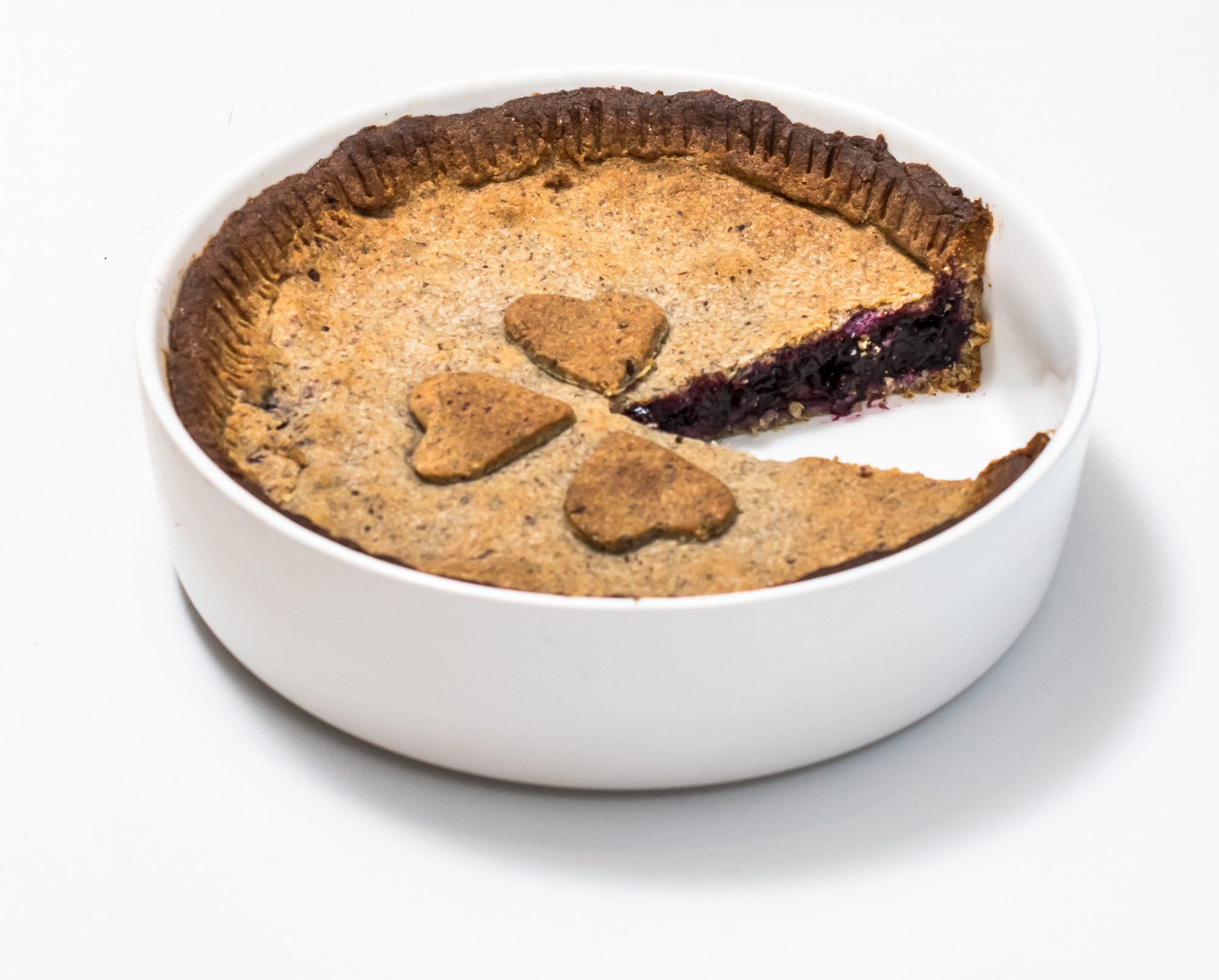 Gluten-free Finnish blueberry pie