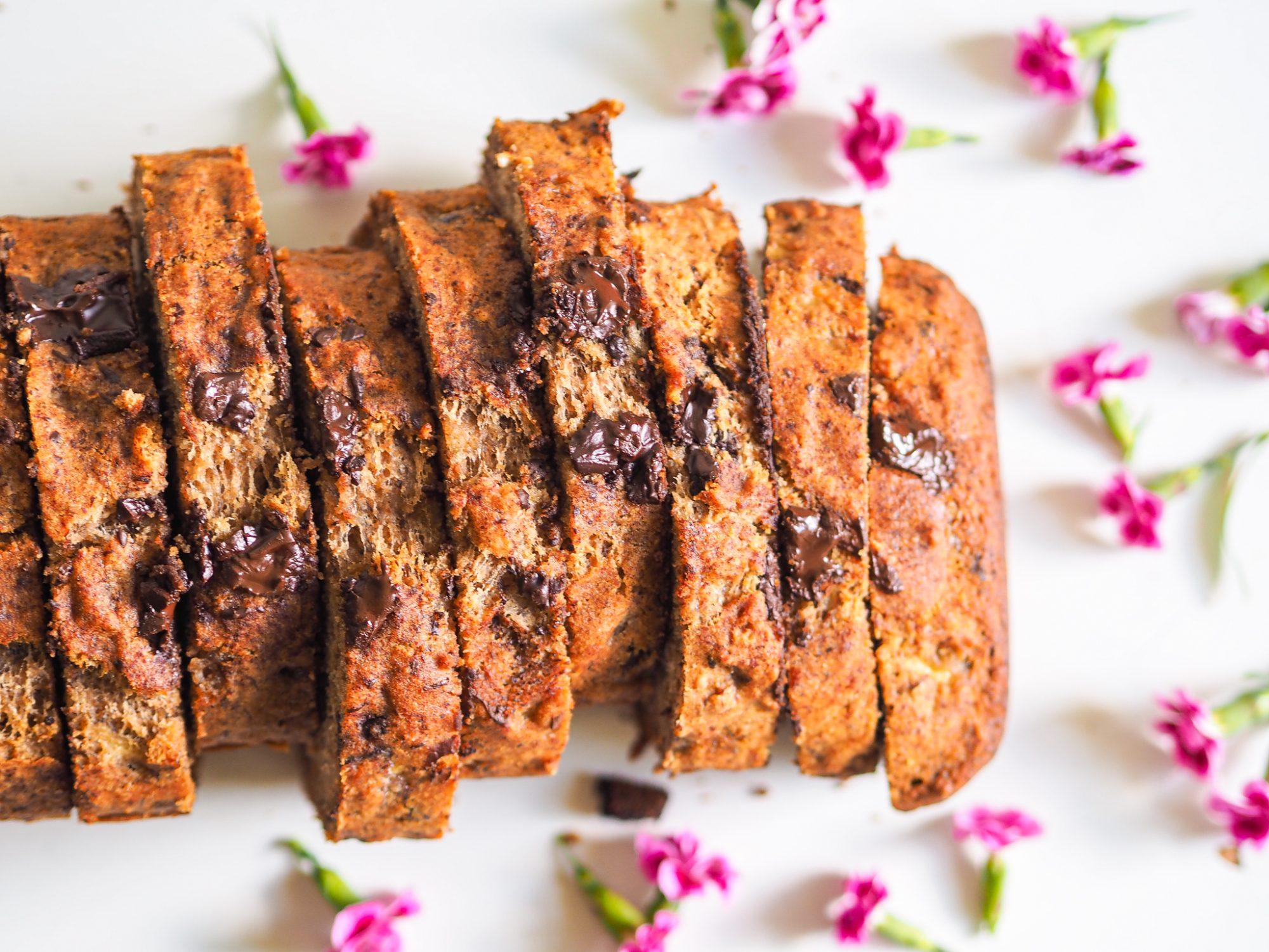 Gluten-free healthy banana bread