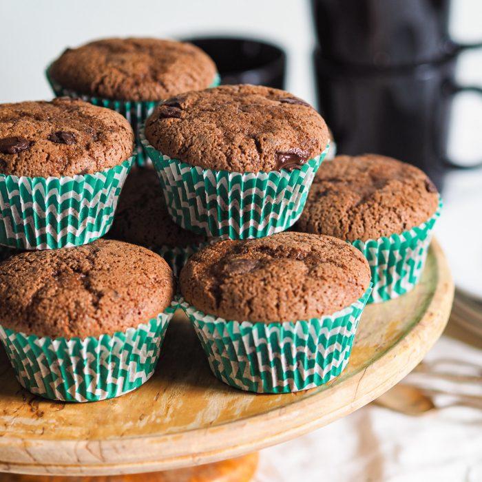 Gluten-free chocolate muffins (rice flour)