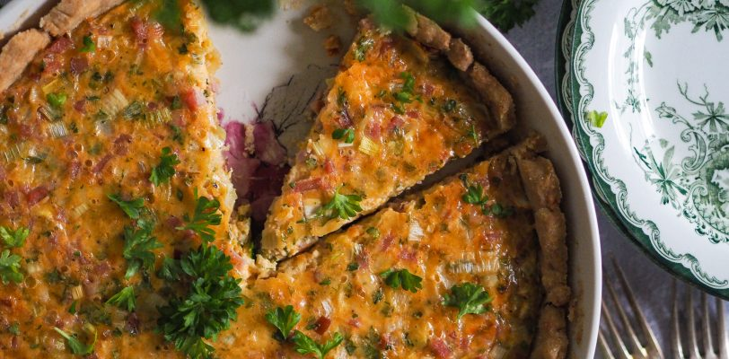 Gluten-free ham and cheese pie