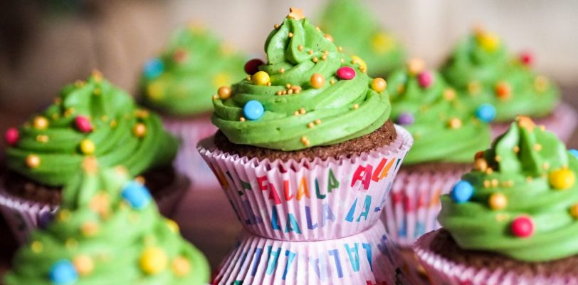 Gluten-free Christmas cupcakes