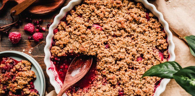 Gluten-free Peanut butter berry crumle