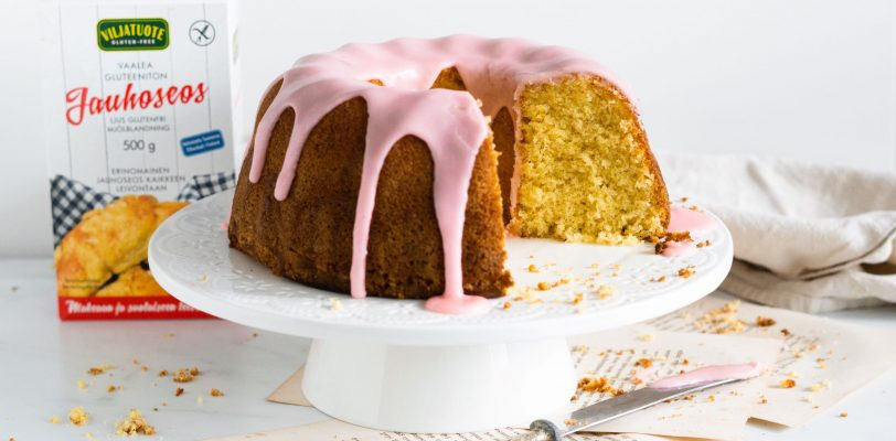 Gluten-free blood orange & olive oil cake