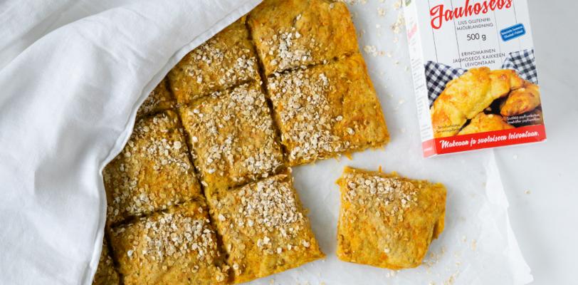 Gluten-free carrot & oat sheet pan bread
