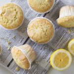 Gluten-free lemon rice muffins