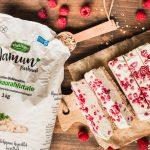 Gluten-free Vegan White Chocolate Raspberry Ice Cream Treat