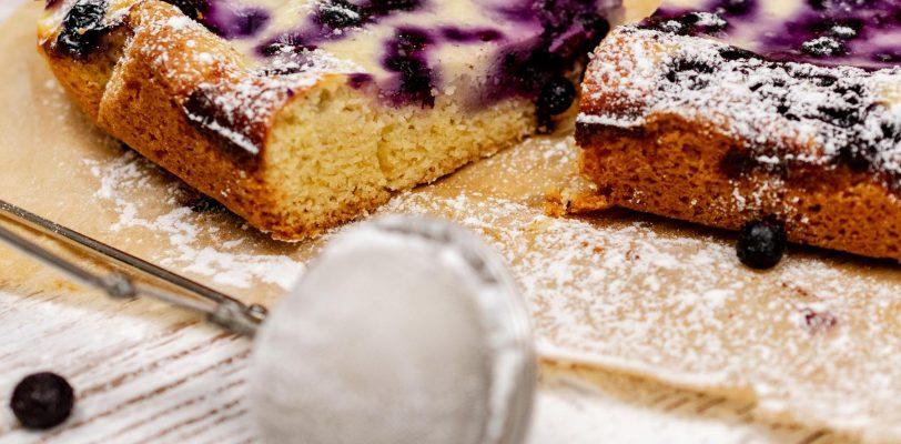 Gâteau aux myrtilles sans gluten