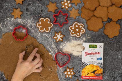 Biscuits aux épices de Noël sans gluten