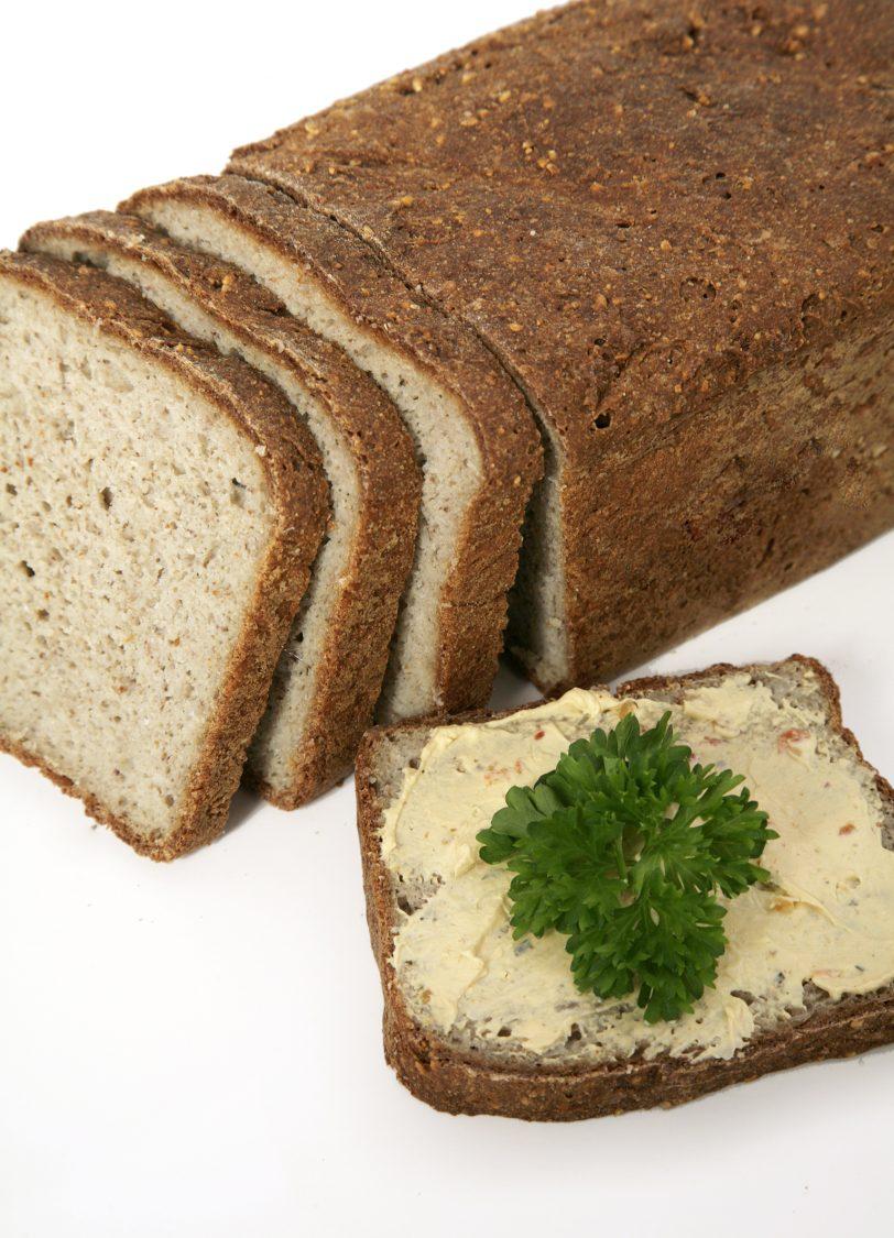 Pain moulé à la farine de fèves sans gluten