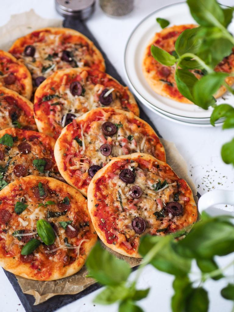 Mini pizzas sans gluten