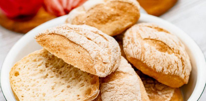 Petits pains blancs sans gluten