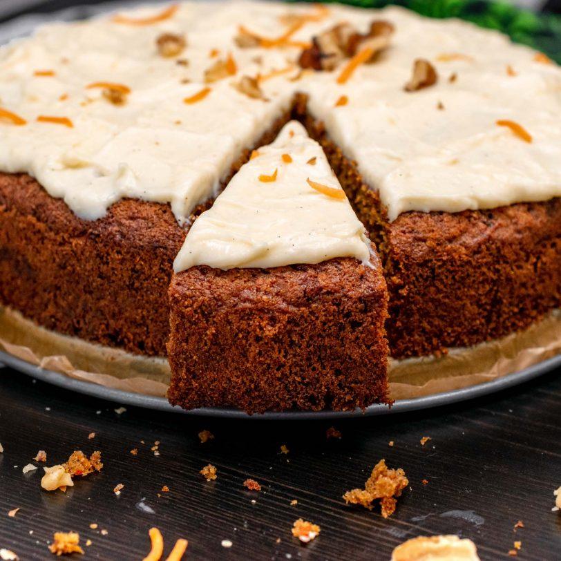 Gâteau à la carotte sans gluten