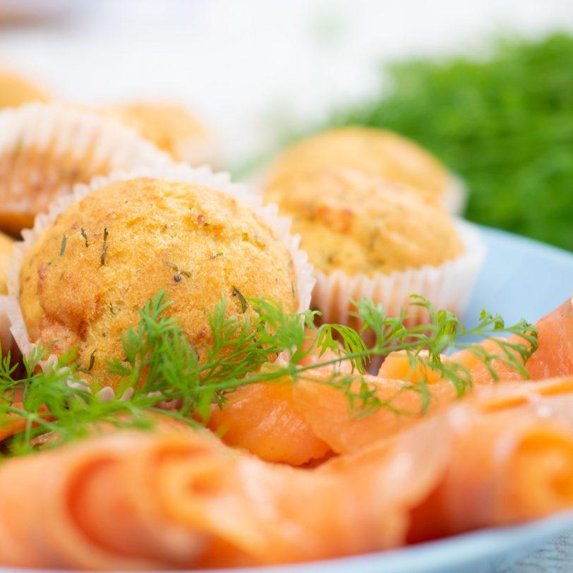 Muffins au saumon sans gluten