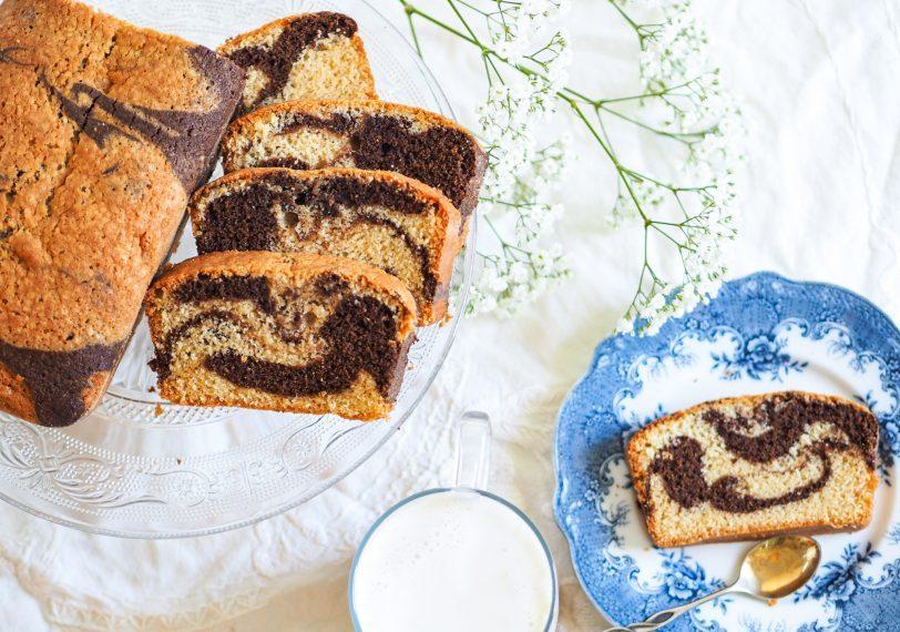 Gâteau marbré sans gluten
