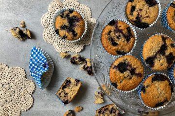 Muffins aux myrtilles sans gluten