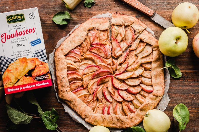 Tarte rustique aux pommes sans gluten, vegan