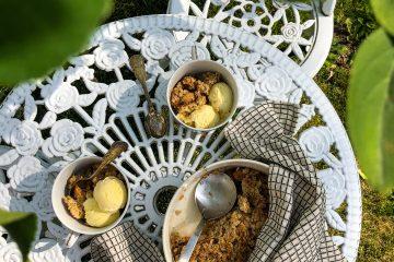 curable aux pommes et aux flocons d'avoine sans gluten