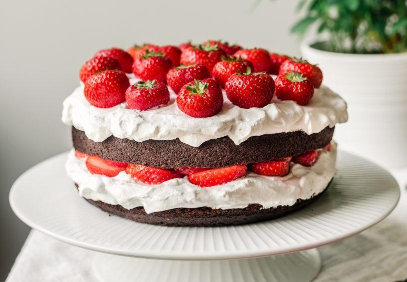 Layer cake au chocolat sans gluten et vegan
