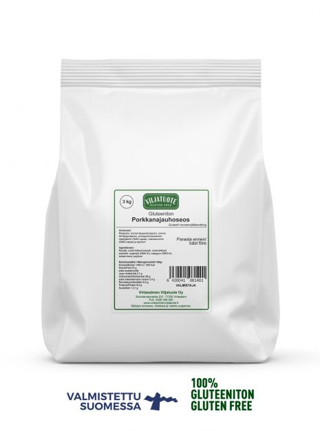 Mix de farine sans gluten avec carottes séchées, 3 kg