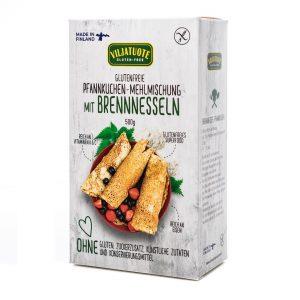 Glutenfreie Pfannkuchen-Mehlmischung mit Brennnesseln