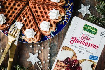 Gluteenittomat vaniljavohvelit