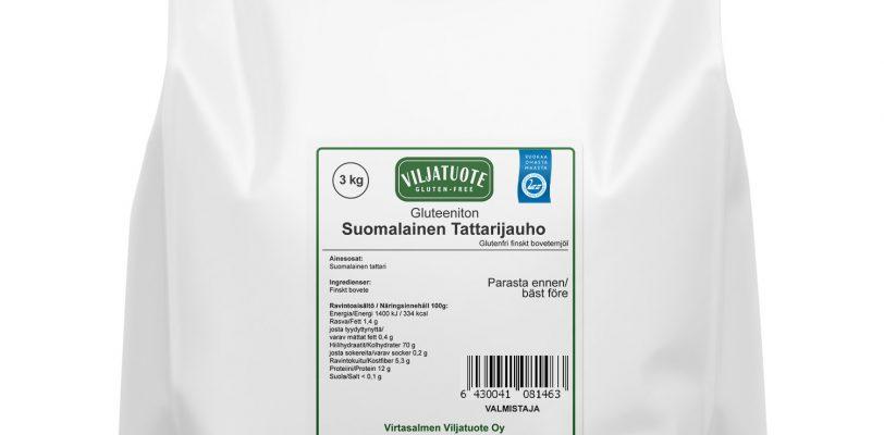 suomalainen tattarijauho 3kg