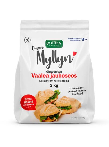 Virtasalmen Viljatuote Vaalea Gluteeniton Jauhoseos 3kg
